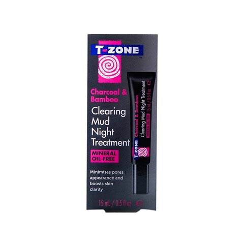 T-Zone Charcoal & Bamboo Clearing Mud Night Treatment 15ml