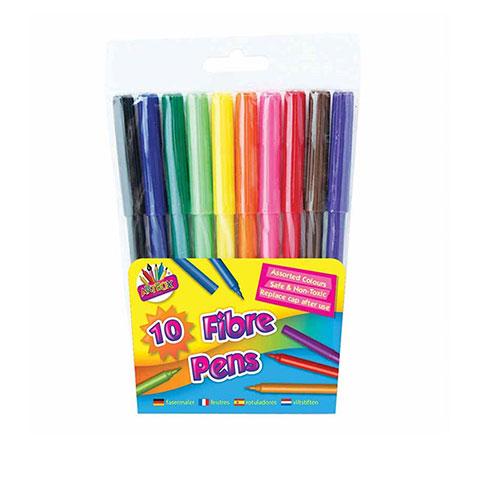 Tallon Artbox 10 Fibre Colouring Pens (1011)