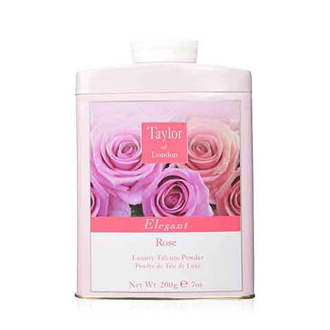 Taylor of London Luxury Talcum Powder 200g - Elegant Rose