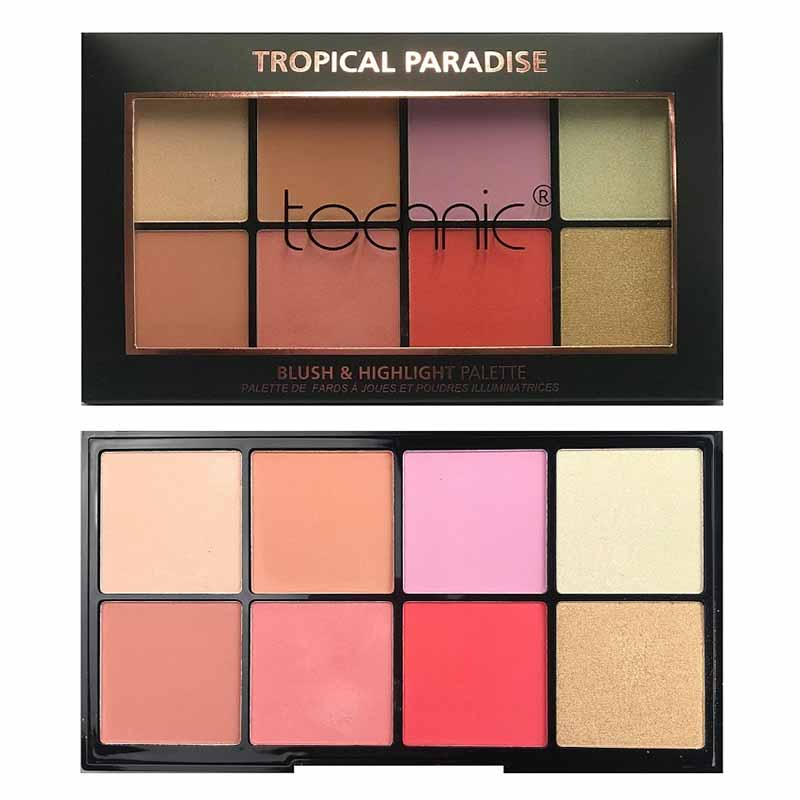 Technic Blush & Highlight Palette - Tropical Paradise