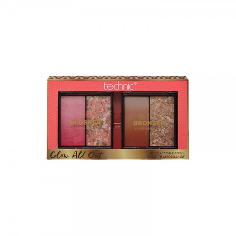 Technic Glow All Out Blusher & Bronzer Palette