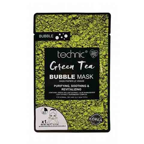 Technic Green Tea Aloe Purifying Soothing & Revitalising Bubble Face Mask