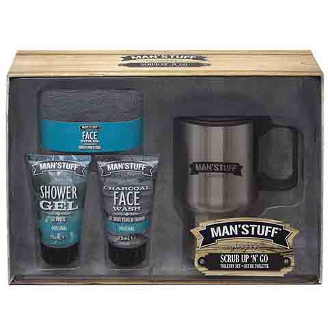 Technic Man Stuff Scrub N Go Toiletry Gift Set