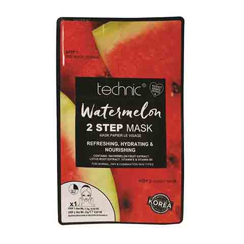Technic Watermelon Refreshing Hydrating & Nourishing 2 Step Face Mask