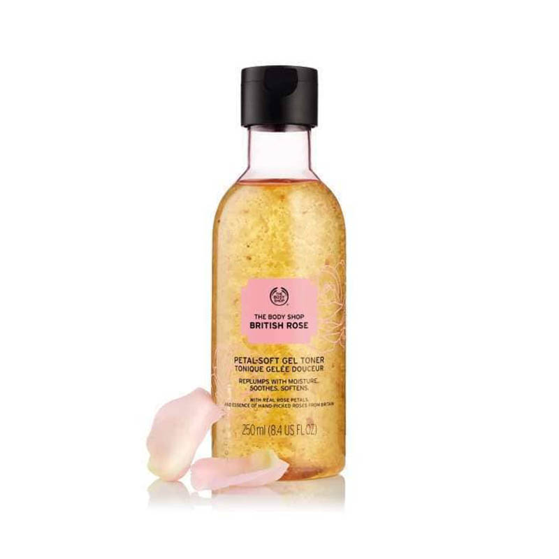 The Body Shop British Rose Petal Soft Gel Toner 250ml