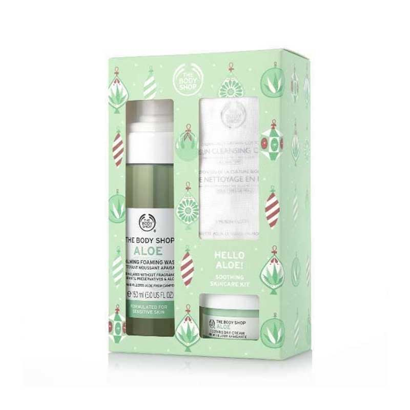 The Body Shop Hello Aloe Soothing Skincare Kit Gift Set