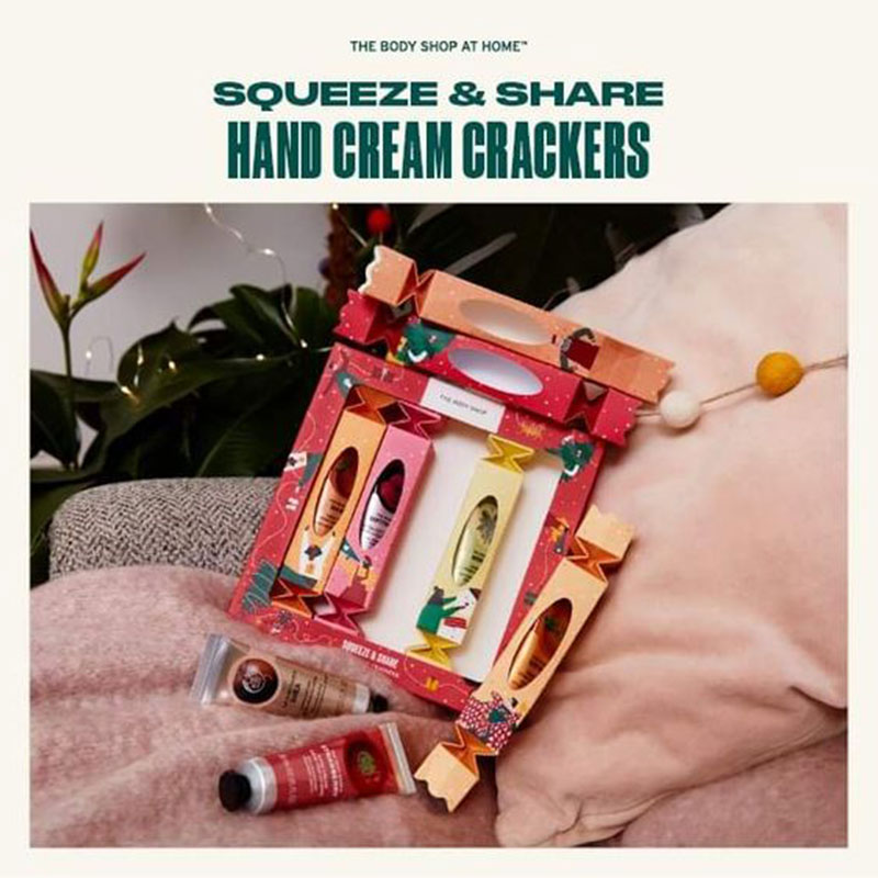 The Body Shop Squeeze & Share Crackers Hand Cream Set