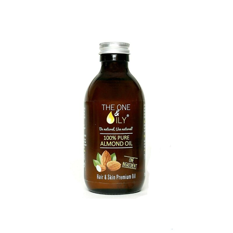 The One & Oily 100% Pure Almond Oil For Hair & Skin  200ml