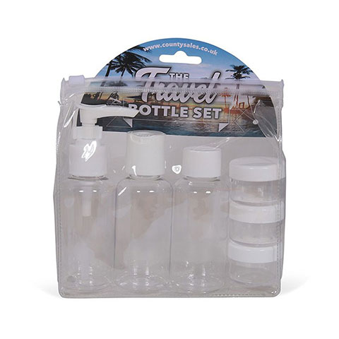 The Travel Bottle Set - Clear