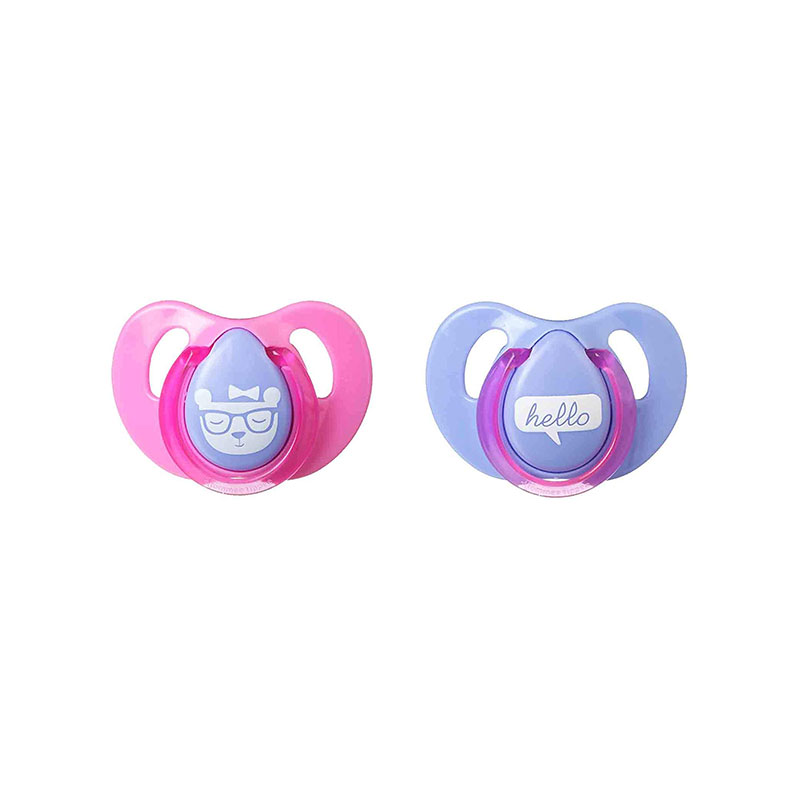 Tommee Tippee 2 Cherry Latex Decorated Soother 6-18m - Pink & Purple