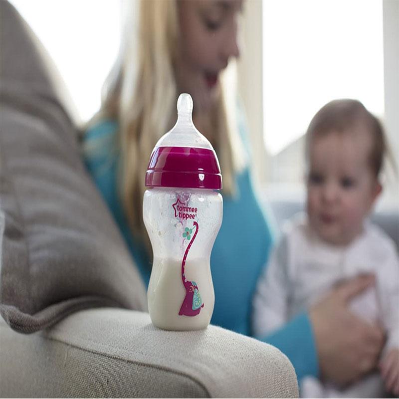 Tommee Tippee Advanced Anti-Colic Newborn Baby Bottle Starter Set - Pink