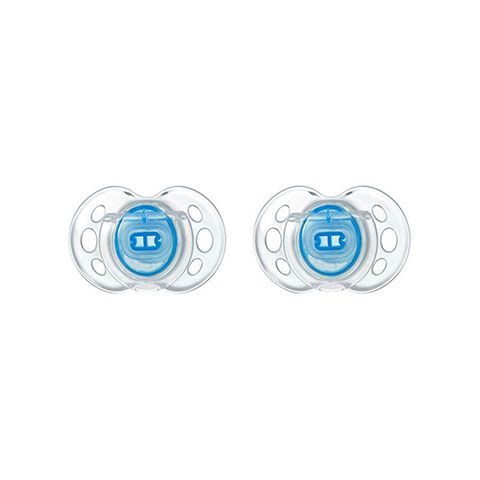 Tommee Tippee Air Style Orthodontic 6-18m Soother 2pc - Blue