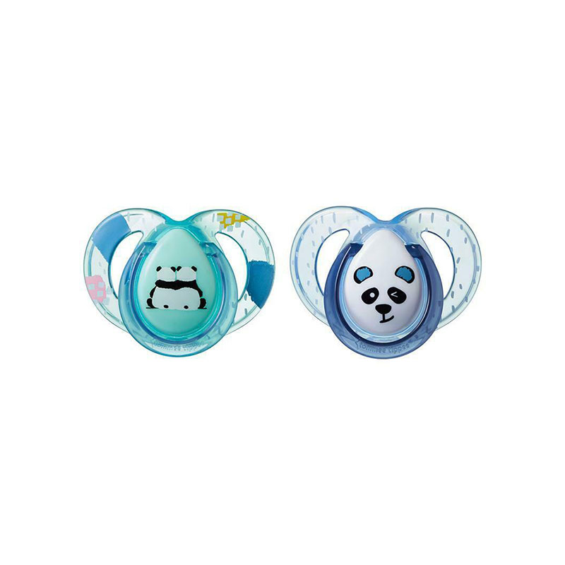Tommee Tippee Anytime Orthodontic 6-18m Soother 2pc - Paste & Blue