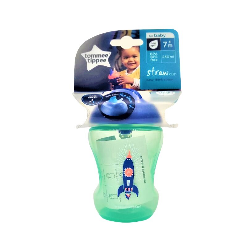 Tommee Tippee Baby Straw Cup 7m+ 230ml - Green (0157)