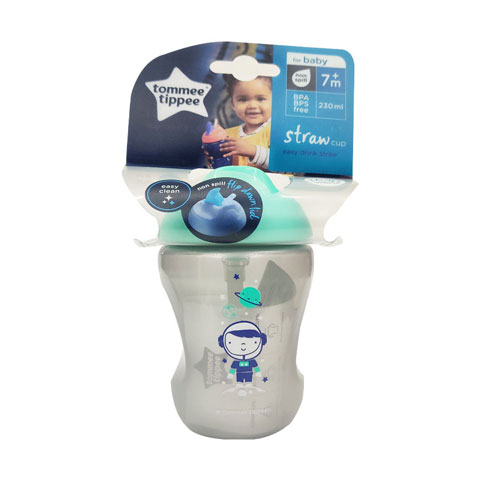 Tommee Tippee Baby Straw Cup 7m+ 230ml - Grey (0157)