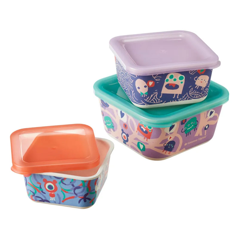 Tommee Tippee Chompers 3-piece Bamboo Stacking Snack Boxes - 18+M