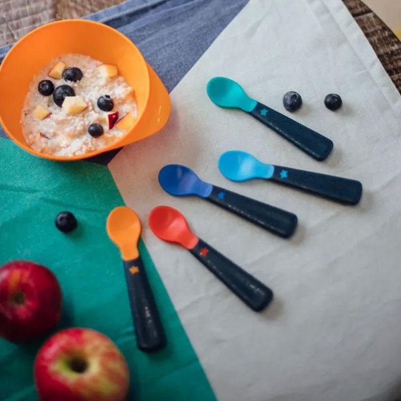 Tommee Tippee Easy Grip Self Feeding Spoons Set 5pcs - 6M+