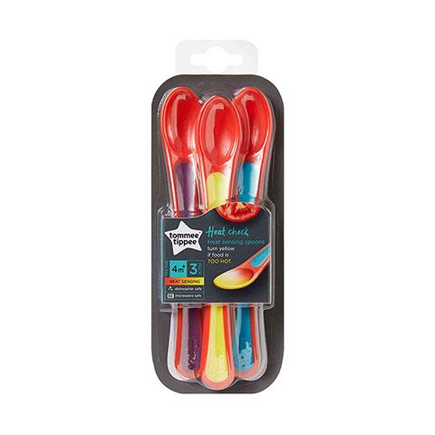 Tommee Tippee Heat Check Sensing Weaning Spoons 4m+ - 3 Pack