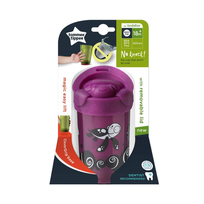 Tommee Tippee No Knock Toddler Cup 18m+ 300ml - Purple (3035)