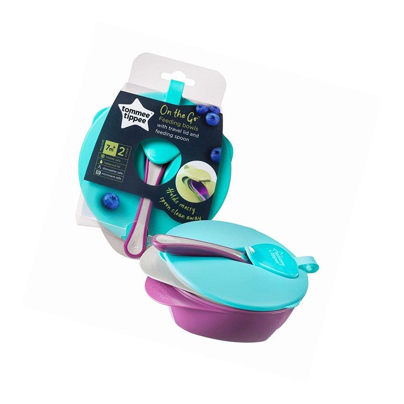 Tommee Tippee On The Go Feeding Bowls 7m+ 2 Bowls (7188)