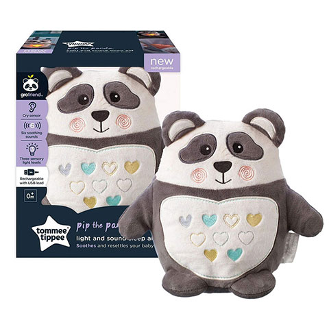 Tommee Tippee Pip the Panda Rechargeable Night Light & Sound Sleep Aid - 0m+
