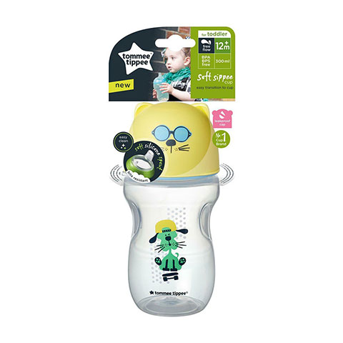 Tommee Tippee Soft Sippee Cup For Toddler 12m+ 300ml - Yellow