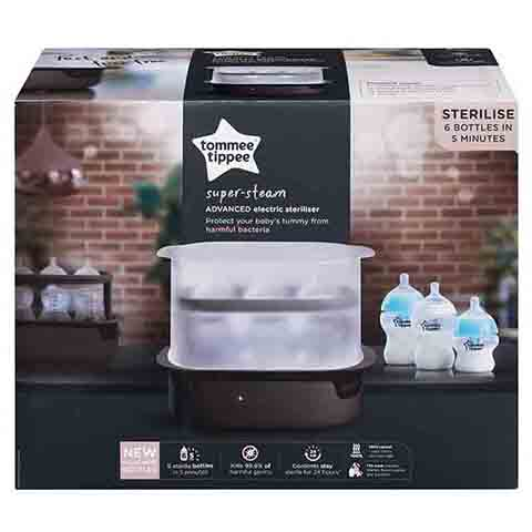 Tommee Tippee Super Steam Advanced Electric Steriliser - Black (2229)