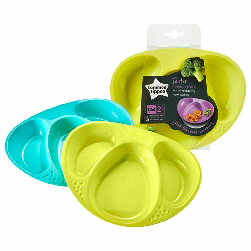 Tommee Tippee Taster Section Plates 12m+ - 2 pack