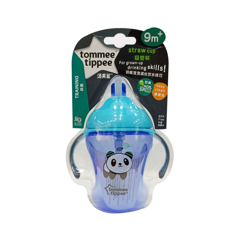 Tommee Tippee Training Straw Cup 9m+ 230ml - Blue