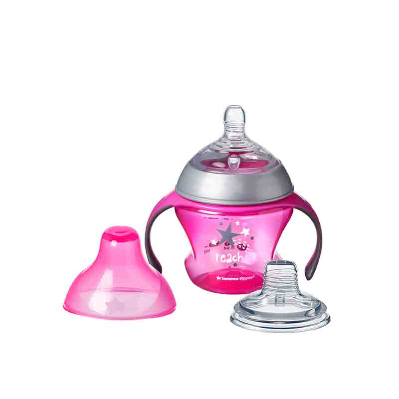 Tommee Tippee Transition Tranir Soft Teat & Spout Cup 4+m 150ml - Pink (0805)