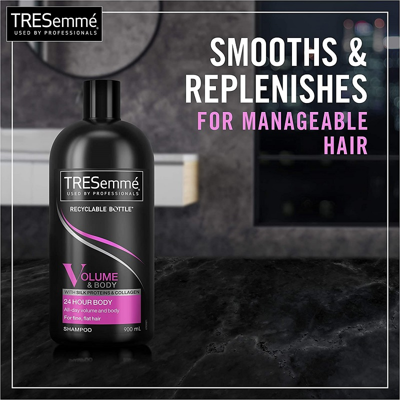 Tresemme Volume & Body With Silk Proteins & Collagen Shampoo For Fine Flat Hair 900ml