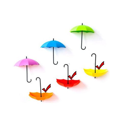 Umbrella Shape Wall Viscose Nail-Free Hook - 1