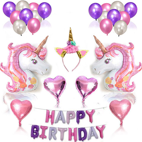Unicorn Birthday Balloon Package