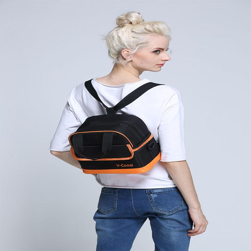 V - Coool Professional Milk Storage Cooler Bag - Black & Orange