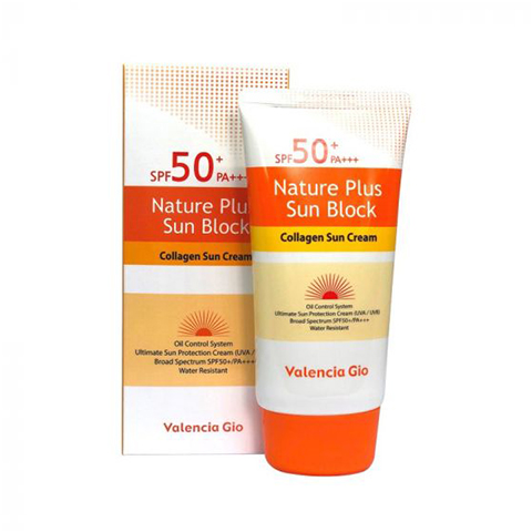 Valencia Gio Nature Plus Sun Block Collagen Sun Cream SPF 50+ - 70ml