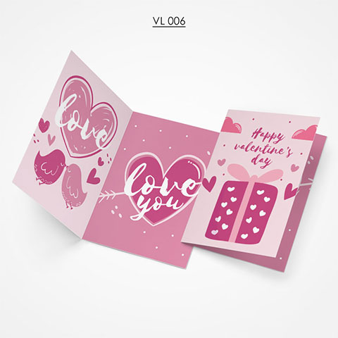 Valentine Gift Card - VL006