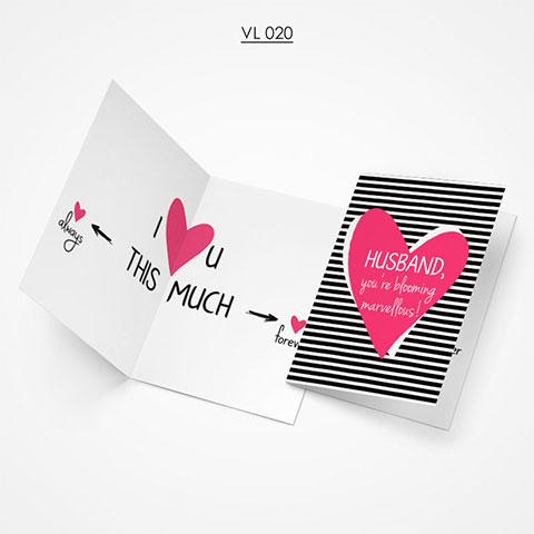 Valentine Gift Card - VL020