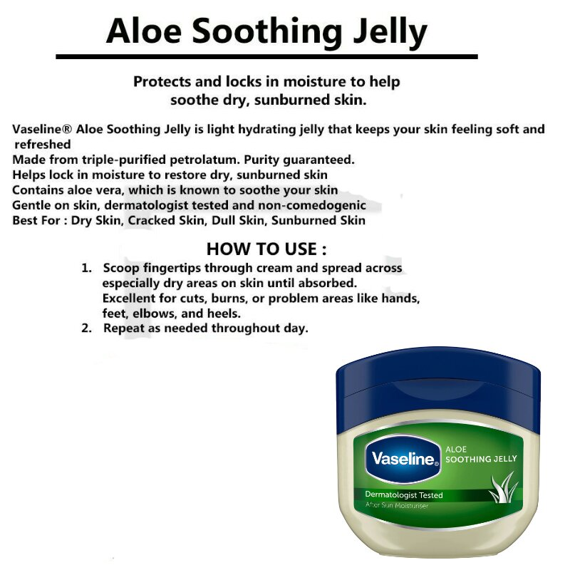 Vaseline Aloe Soothing Petroleum Jelly 50ml