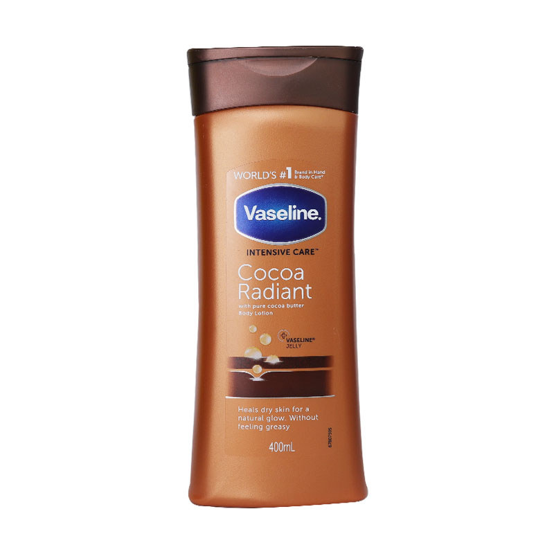 Vaseline Intensive Care Cocoa Radiant Lotion With Pure Cocoa Butter 400ml