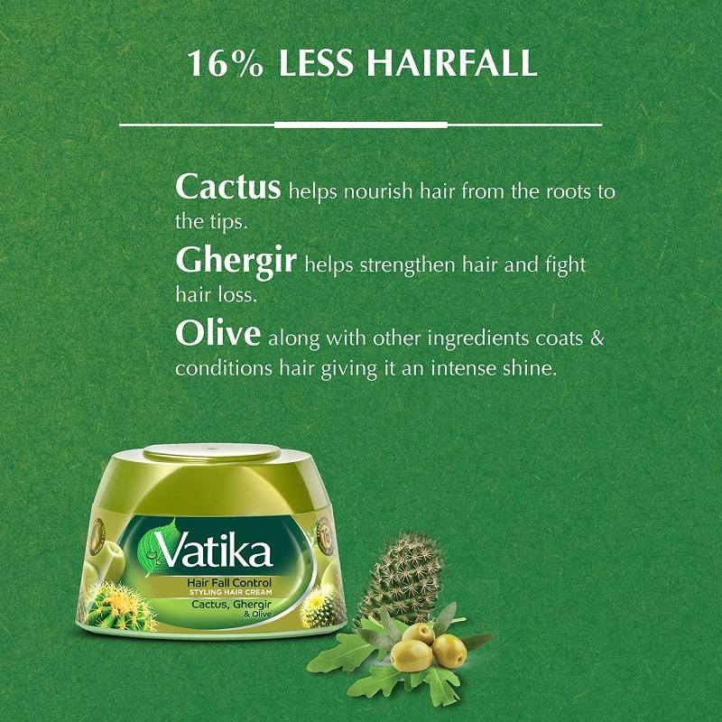 Vatika Hair Fall Control Styling Hair Cream 140ml