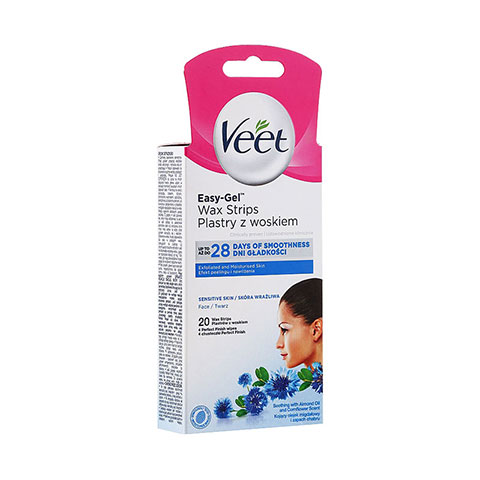 Veet Easy-Gel Wax Strips Plastry Z Woskiem - 20 Strips