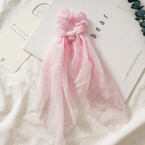 Vintage Hair Scurf Scrunchie for Women - Pink