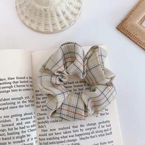 Vintage Scrunchie Stretch Headband - Gray