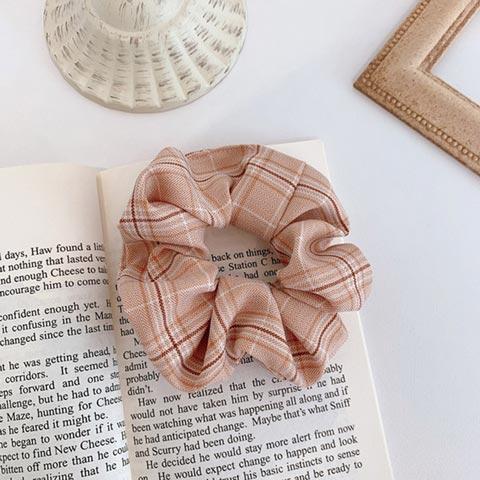 Vintage Scrunchie Stretch Headband - Pink