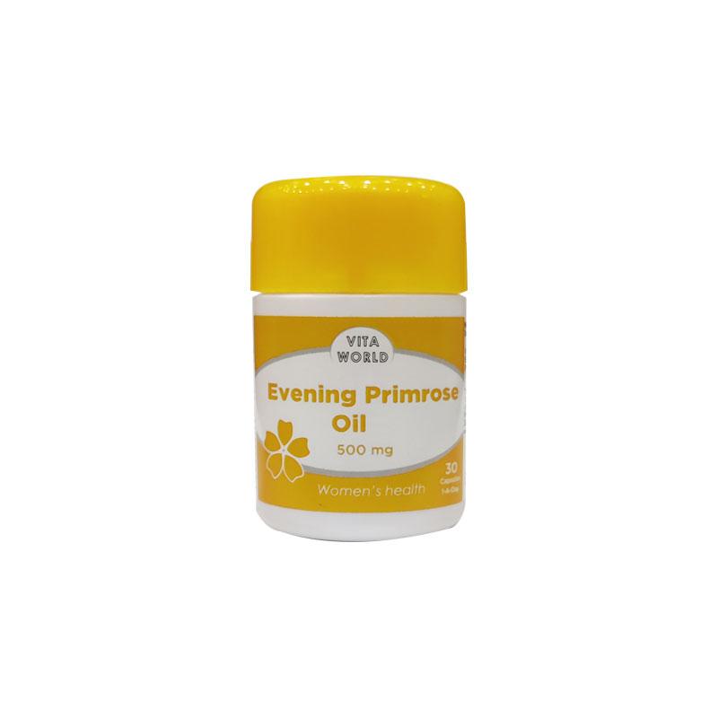 Vita World Evening Primrose Oil Capsule for Women 500mg - 30 Capsules