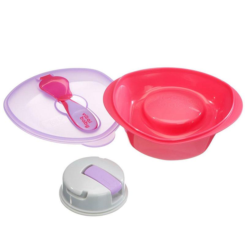 Vital Baby Nourish Power Suction Feeding Bowl and Spoon - 6m+