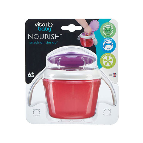 Vital Baby Nourish Snack On The Go 6m+ Pot - Pink