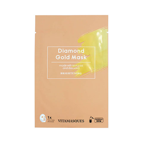 Vitamasques Brightening Diamond Gold Sheet Mask 20ml