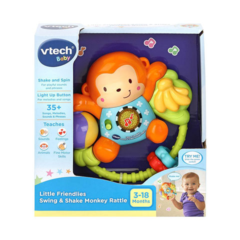 Vtech Baby Little Friendlies Swing & Shake Monkey Rattle 3-18m