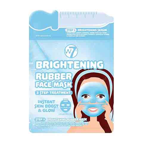 W7 Brightening 2 Step Treatment Serum + Rubber Facial Mask